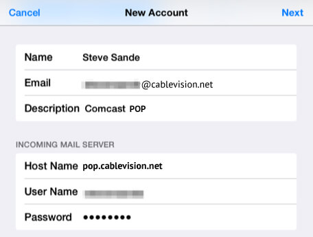 Setup Cablevision Mail Using POP