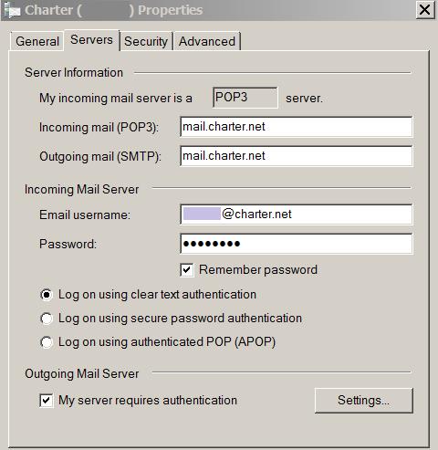 Setup Charter Mail Using POP