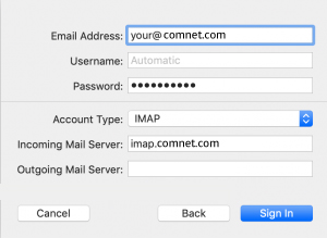 Setup ComNetcom.net Mail Using IMAP