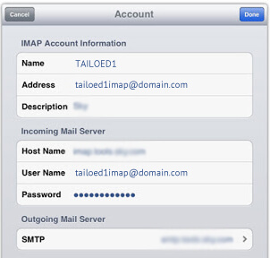 Setup Concentric Mail Using IMAP