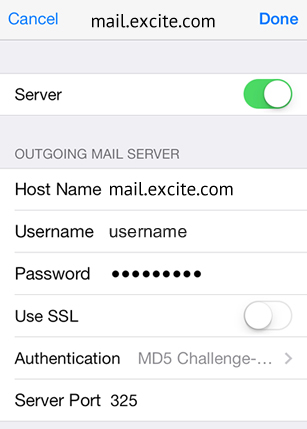 Setup Excite Mail Server