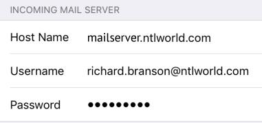 Setup NTL World Mail Server