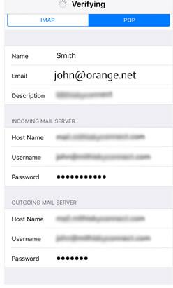 ORANGE HOME Mail Setup Using POP