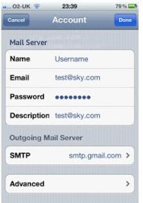 Setup Sky Mail Server