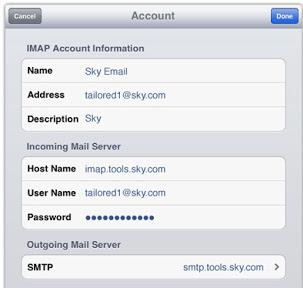 Setup Sky Mail Using IMAP