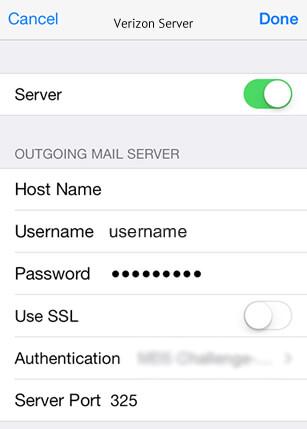 Setup Verizon Mail Server