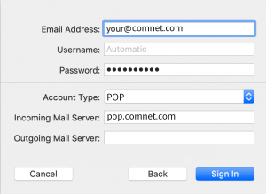 Setup ComNetcom.net Mail Using POP