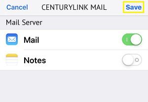 Setup Centurylink Mail Server